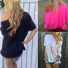 Fashion Women Summer Loose Short Sleeve Blouse Ladies Casual Tops T-Shirt FN
