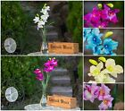 4x Small Artificial Fake Orchid Decor for Home Office or Wedding Bridal Events