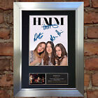 HAIM Signed Autograph Mounted Photo Reproduction A4 Print 453