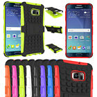 Hybrid Shockproof Rugged Rubber Hard Cover Case Skin Stand For Samsung Galaxy