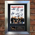 IRON MAIDEN Signed Autograph Mounted Photo Reproduction A4 Print no542