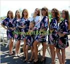Hot 2017 new Bridesmaid set of 7 gowns and bride wedding party robes satin Dress