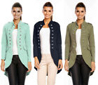 6066 DAMEN JACKE MILITARY ADMIRAL UNIFORM BLAZER BLOGGER KNÖPFE MANTEL S M L XL