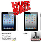 Apple iPad 16GB Black | 2 or 4th Generation (Retina Display) | One-Year Warranty