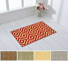 "Rubber Backed 18"" x 31"" Trellis Squares Non-Slip Doormat Accent Rug"