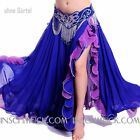 C234 Belly Dancing Costume Skirt with Slits Tribal Fusion Belly Dancing