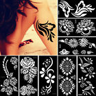 Airbrush Body Art Paint Temporary Henna Tattoo Stencil Christmas Gifts Templates