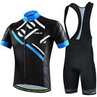 CHEJI Reflective Cycling Set Bike Clothing Shirt Men's Padded Shorts / Bibs Kit
