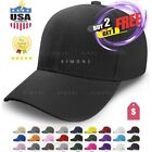 Loop Plain Baseball Cap Solid Color Blank Curved Visor Hat Ball Army Men Women