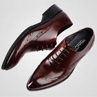 Men's Genuine Cow Leather Shoes Dress Formal Classic Vogue Brown Black Size 5~11