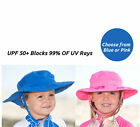 NEW Sun Protection Zone Kids Hats UPF 50+ Adjustable Safari Beach Hat Pick Color