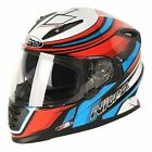 Nitro NRS-01 Torque Full Face Motorcycle Scooter Crash Helmet White/Red/Blue