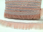 20metres NET FRILL TRIM LACE, GATHERED LACE WITH SEQUIN AND GILTER, 10 COLOURS