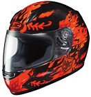 HJC CL-Y FLAME FACE RED Youth Full Face DOT FREE SHIPPING