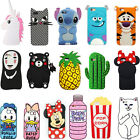 3D Cute Cartoon Animal Soft Silicone Case Cover For iPhone 4 5 6s 6Plus 7 7Plus