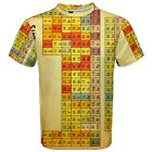 Periodic Table Of Element Sublimation Men's Sport Mesh Tee T-Shirt Size XS-3XL