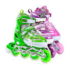 LED Roller Blades Kids Adjustable Inline Speed Skates Womens Size 8-11 US