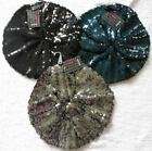 Womens - Girls beret covered in sequins in black, blue or silver - one size