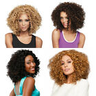 African Women's Kinky Curly Short Wig Synthetic Full Lace Cosplay Wigs 200g/pc