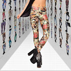 Celeb Women Digital Print Pattern Leggings Stretchy Trousers Render Pant Tightly