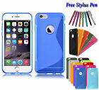 S-Line Wave Soft Silicone Gel Grip TPU Case Cover Holder For Apple iPhone 7 Plus