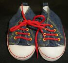 BABY BOYS SIZE 3 DENIM JIM BOOT STYLE SOFT SOLED SHOES AS NEW