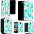 gel case cover for many mobiles - aqua raindrops silicone