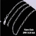 925 STERLING SILVER FILLED 2MM SNAKE ROPE BOX BALL CURB NECKLACE MENS LADY CHAIN