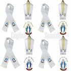 Color Virgin Mary Embroidery Christening Baptism Stole Scarf Sash New Born 7 yrs