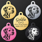Dalmatian Dalmation Round Pet Dog Puppy ID Tag Personalised Engraved Aluminium