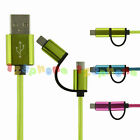 2 IN 1 ANDORID & IOS / USB 2.0 & LIGHTNING PLUG DUAL PLUG CHARGING CABLE