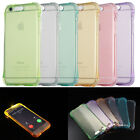 Incoming LED Flash Soft TPU Silicone Back Case Cover Skin Clear Shell Shockproof