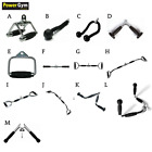 Gym Attachments Row Cable Tricep Rope Bar Revolving Handle Pull Down Curl Lat