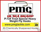 50 PMG P- Series Fly Tying Hooks ULTRA SHARP - BLOB - BUZZER - DRY - WET - LURE