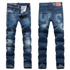 New Mens Italy Style *Distressed *Washed Pants *Torn Slim JEANS Trousers D1385T
