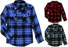 NEW Faded Glory Boys' Long Sleeve Flannel Shirt, Choose Size & Pattern