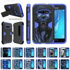For Samsung Galaxy J1 J120 / Amp 2 / Express 3 Holster Belt Clip Stand Blue Case