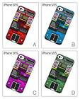 Retro England London Double Decker Bus Hard Cover Case for iPhone 5 5S