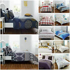 4Piece Complete Bedding Set Poly/Cotton Duvet Cover/ Fitted Sheet & 2Pillowcases