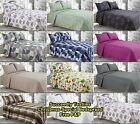 Luxury Quilted Bed Spread Comforter Bedspread Cotton Touch+ 2 Pillow King Size