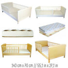 JUNIOR TODDLER BED SELECTION 140x70 SIZES WHITE PINE AND MATTRESSES BEST PRICE