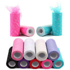 Sequin Tulle Roll 25Y 15cm Spool Sewing Mesh Fabric DIY Tutu Wedding Decoration