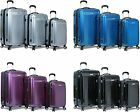 "New ""Dejuno"" Polycarbonate Upright Light Weight Hard Shell Suitcases Luggage Set"