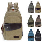 Unisex Convertible Canvas Small Mini Backpack Rucksack Chest Pack Sling Bag