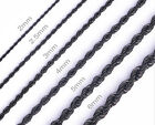 "One Day Ship 16""-36"" Mens Womens Stainless Steel Black Rope Chain Necklace ch069"