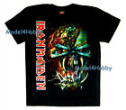 IRON MAIDEN T-Shirt Black Size M L XL HEAVY METAL GHOST MONSTER FACE FANG TATTOO
