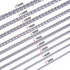 Men's Newest 18-36inch Cool Silver 316L Stainless Steel Chain Link Curb Necklace