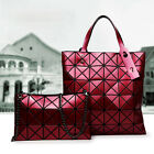 Women's Unique Fashion Handbag Sparkling Rhombus Plaid Chain Shoulder Bag Tote