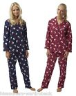 Ladies Womens Robin Brushed Cotton Flannel Wincyette Pyjama Set UK 8 to 20 NEW