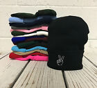 Peace Hand Embroidered Cap Hip Hop Beanie Cuffed  - Multiple Colors